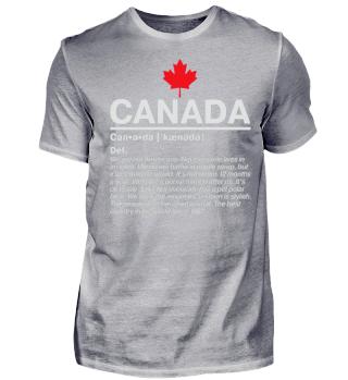 Definition Canada - weiss auf schwarz