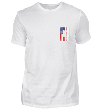 Shirt American Lineman Flag USA