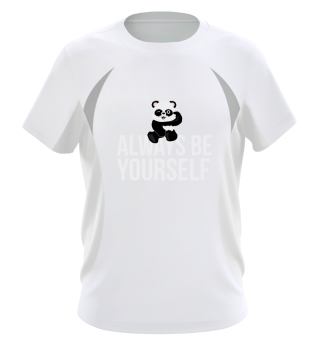 Always be yourself Panda open one Eye