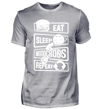 Eat Sleep Motocross Repeat - Stunt Dirt