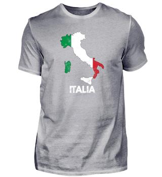 Italien Flagge Landesgrenzen