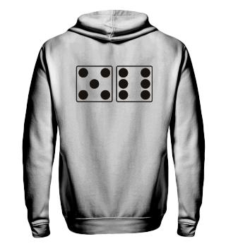 Würfel Punkte 5 + 6 - schwarz