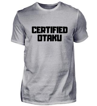 Certified Otaku Anime Manga Japan Kawaii