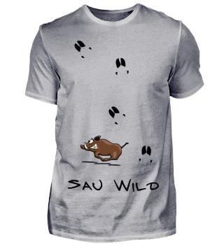 Wildschwein - Wilde Sau mit Fährte