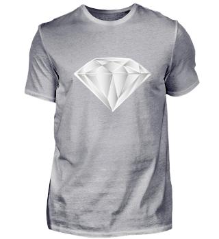 Weißer und reiner Diamant