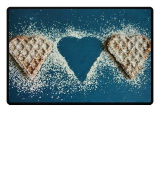 ★ Photo - Waffle Hearts - blue