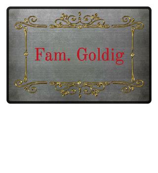 Vintage Ornaments Frame - gold