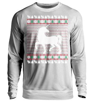 Einhorn Ugly Christmas Sweater Geschenk
