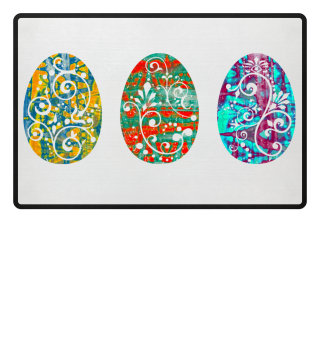 ★ Three Ornaments Easter Eggs grunge 3