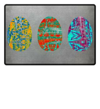 ★ Three Ornaments Easter Eggs grunge 3