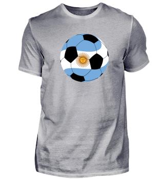 Argentinien Ball mit Text Argentina auf dem Rücken