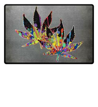 ★ Crazy Colored Marijuana Leaves 1a