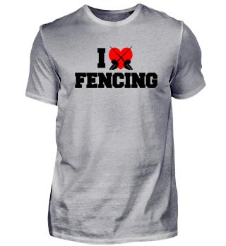 i love heart fencing fence fechten
