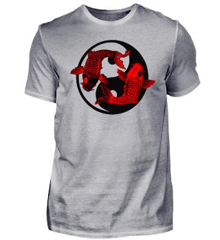 KOI Fish - Nishikigoi Yin Yang Symbol 3
