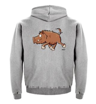 Running Wild Boar Cartoon I Hog Pig Fun