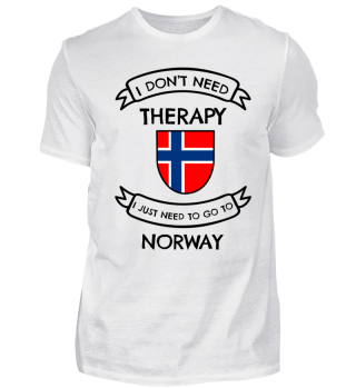 I don't need therapy ... to go to Norway