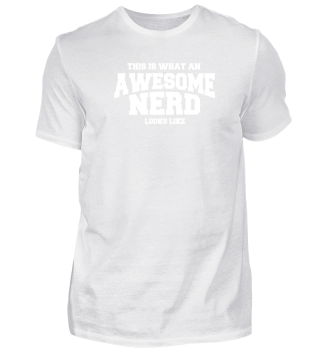 What An Awesome Nerd Looks Like - T-SHIR