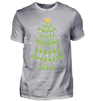 Gitarrist Weihnachten ugly t-shirt