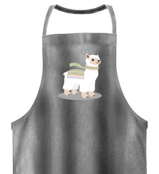 Cool Llama Shirt Cute Alpaca Scarf Gift