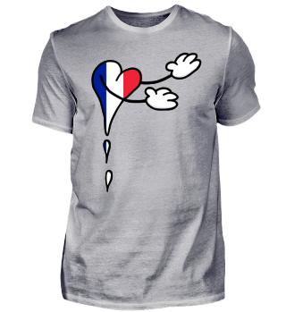 Flagge Herz Welcome Frankreich
