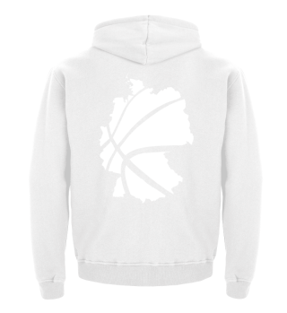 PG | Kid's Hoodie | Basketball Map WHITE
