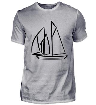 Segelboot. Urlaub! Meer! Geschenk