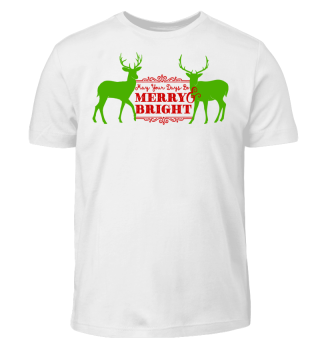 ★ Merry Bright - Vintage Deers II
