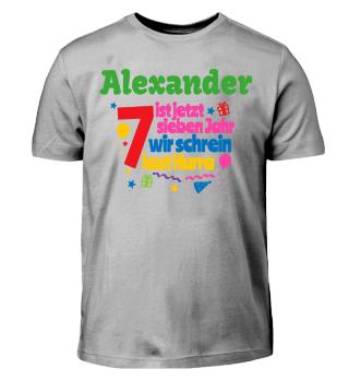 Geburtstags-Shirt zum Bemalen - 7 Jahre