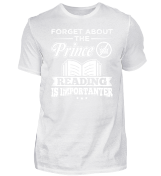 Funny Reading Book Shirt Forget Prince