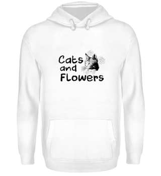 CATS - CATS AND FLOWERS