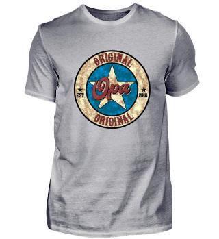 Original Opa US Style Shirt established 2018 werdender Geburt Baby Kind Schwanger Schwangerschaft Geschenk