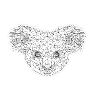Koala Bear Polygon