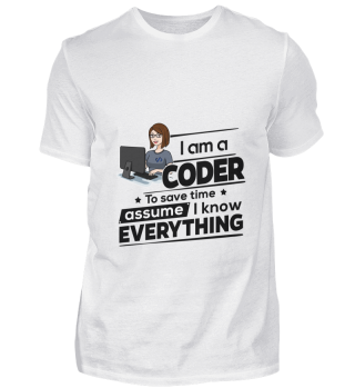 D001-0573B Female Coder Programmiererin