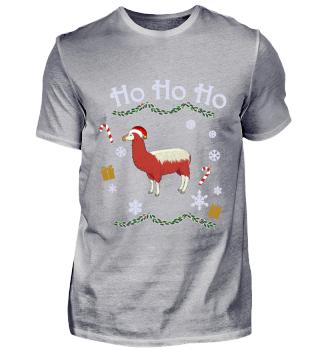 Lama Weihnachten Ho Ho Ho