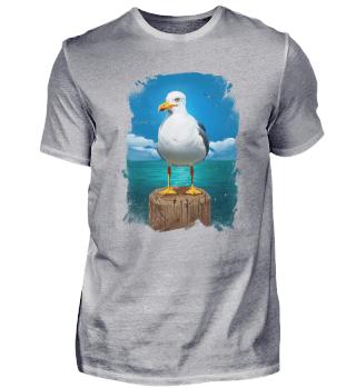 Baltic Vibes Möwe - Herren Shirt