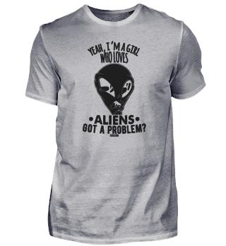 Girl loves aliens