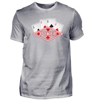 Poker - Ass - Casino - 2 x Caro