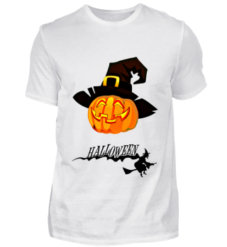 Halloween-Kürbis mit Hexenhut
