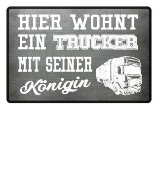 TRUCKER KÖNIGIN - FUSSMATTE