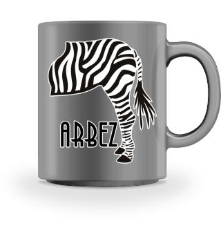 ARBEZ Zebra von Hinten - black white 1