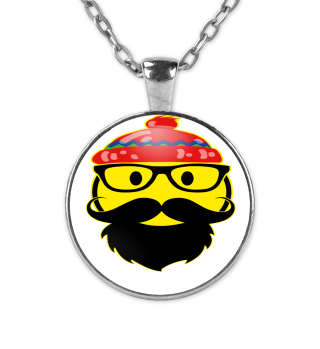 ☺ Funny Cult Smiley - Brille Bart Mütze