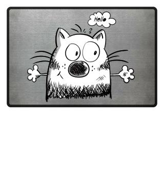 Hello Meow Cat I Fun Cartoon Gift Cats