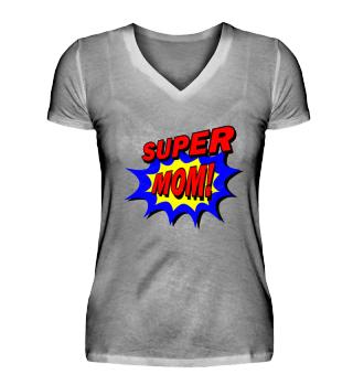 Super Mom Comic Style Shirt