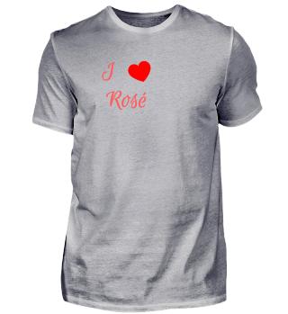 Ich liebe Rosé Wein Getränk - Geschenk