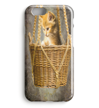 KITTEN IN BASKET PREMIUM iPHONE CASE