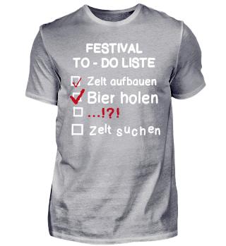 Festival TO-DO Liste