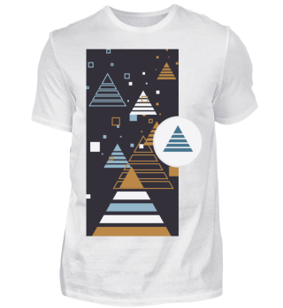Abstrakte Pyramiden Illustration I Shirt