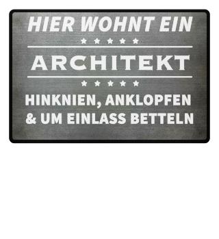 HIER WOHNT EIN ARCHITEKT- Fussmatte