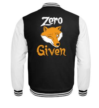 Zero Fox Given - wordplay pun apathy
