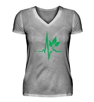 T Shirt Vegan Heartbeat Geschenk Umwelt